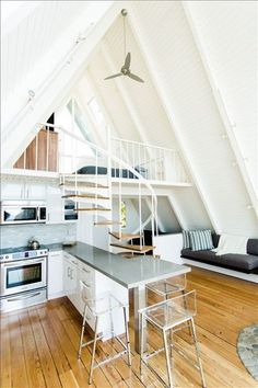 Malibu Vacation Rental VRBO 411539 1 BR Los Angeles County House in CA Stunning aFrame on Private Beach in Malibu Totally Renovated Tiny House Cabin, Tiny House Design, Tiny Beach House, Beach Houses, Tiny Houses, Malibu Beach House, Tiny Cottages, Modern Tiny House, Guest Houses