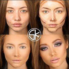 Mujeres antes y después del maquillaje
