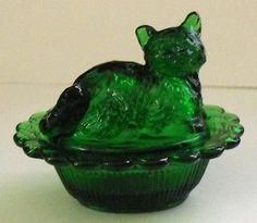Mosser Glass Cat Salt Dish