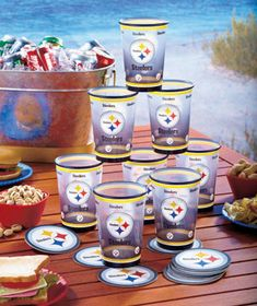 16-Pc. NFL Party Drink Sets
