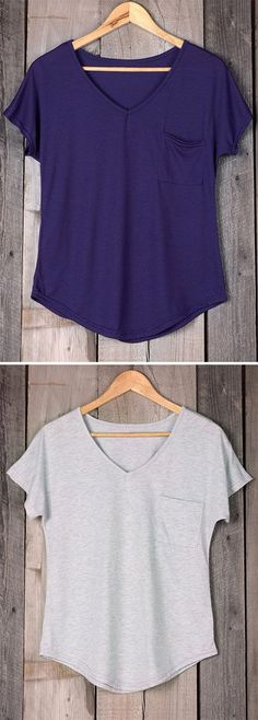 You've got a closet full of clothes and nothing to wear? You gotta keep this shirt.This one is a beautiful basic for your wardrobe. With the perfect slouchy fit, it features a soft knit body, a single pocket at the bust, and a round hemline.Casual and comfy,you'll need this.