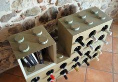 Portabottiglie modulare in MDF by Cool Art....arredare con divertimento!