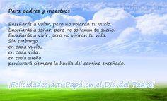 Para padres y maestros, un lindo poema de la Madre Teresa De Calcuta, para dedicarle a #Papa en su dia por todo lo que nos ha entregado. http://norfipc.com/facebook/frases-pensamientos-madre-teresa-calcuta.html