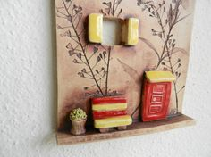 Ceramic house wall hangingclay housepottery by potteryhearts