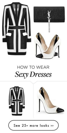 """Color block sensation"" by tinakini on Polyvore featuring Balmain and Yves Saint Laurent"