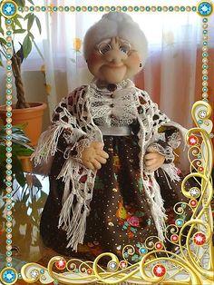 Куклы Шитьё Интелегентная Бабушка Мила Капрон фото 1