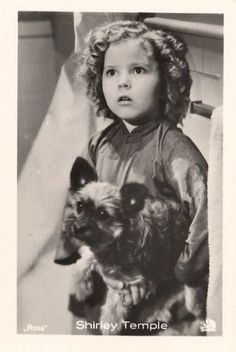 Shirley Temple & a Cairn Terrier 1930s #celebrities #pets #dogs