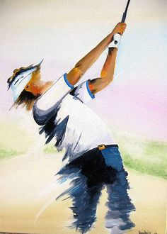 Golf trick, tips and training Golf Images, Golf Pictures, Bunker, Golf Painting, Golf Cards, Online Art, Watercolor Art, Book Art, Golf Courses