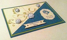 Tanja´s Stempel Zauberland: Karten zur Geburt Papier/Farbe: Mattblau, Olivgrü...