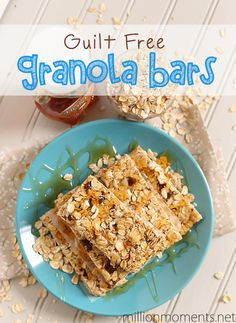 Guilt Free Granola Bars {Two Great Recipes!} - A Million Moments