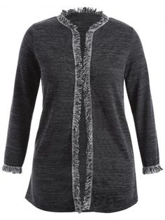 GET $50 NOW | Join RoseGal: Get YOUR $50 NOW!http://www.rosegal.com/plus-size-sweaters-cardigans/fringed-plus-size-cardigan-835978.html?seid=7558296rg835978