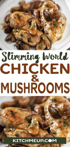 Chicken & mushrooms  #dinner #chicken #mushrooms #slimmingworld #synfree #lowsyn #slimming_world #weightwatchers #weight_watchers #glutenfree #dairyfree #paleo #lowcarb #ketogenic #food