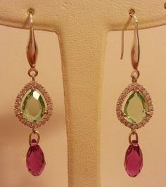 Swarovski silver earrings