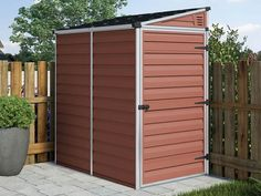 The Pent Shed is perfect for storing your bicycle, camping or pool equipment, gardening tools etc., and for organizing your outdoor life.
