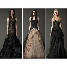 Halloween Weddings From Gothic Elegance to Horror Schlock ❤ liked on Polyvore featuring dresses