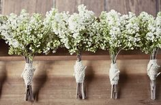 baby's breath bouquets - awesome