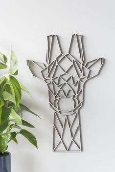 Buy the Geometric Giraffe Wall Art - Poplar from our stunning Wall Décor collection at Red Candy, the home of quirky decor! 3d Wall Decor, Wall Decor Design, 3d Wall Art, Wall Art Designs, Geometric Wall Art, Geometric Shapes, Geometric Elephant, Geometric Animal, Geometric Patterns