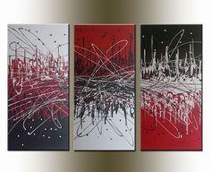 Contemporary Art   Art: ORIGINAL abstract PAINTING MODERN Art - SOLD by Artist Nataera