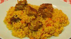 Receta fácil de arroz con costillas adobadas