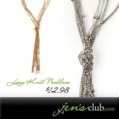 Long Knot Necklace From Regal Beautiful long knot necklace combines five delicate chains, all tied together to form a stylish tassel. Necklace has lobster clasp closure. Knot Necklace, Tassel Necklace, Make Money From Home, How To Make Money, Cake Decorating Supplies, Lobster Clasp, Silver Necklaces, Chains, Knots
