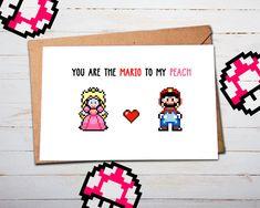 Hey, diesen tollen Etsy-Artikel fand ich bei https://www.etsy.com/de/listing/264623635/mario-valentines-valentins-karte