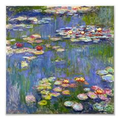 Claude Monet Water-Lilies 1914 art painting for sale; Shop your favorite Claude Monet Water-Lilies 1914 painting on canvas or frame at discount price. Claude Monet, Monet Paintings, Impressionist Paintings, Flower Paintings, Artist Monet, Wow Art, Art Moderne, Wassily Kandinsky, Fine Art