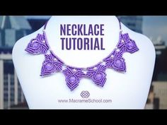 Frozen Elsa Macramé Necklace Tutorial by Macrame School - YouTube