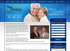 Katy Family Dentists- This is a custom dental website design with the latest in PHP, CSS and JavaScript. It features a custom programmed back admin which allows the office to update their page content on-the-fly. #webdesign #katyfamilydentists #hyperlinksmedia