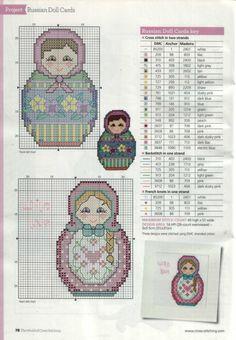 Matryoshka dolls - chart 2