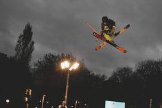 Telegraph Ski and Snowboard Battersea London skier Justin Taylor-Tipton (JTT) photo by Richard Wilkinson