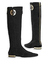 9d37e645a438b0 Tory Burch - Alaina Boot - Tall Flat Boot In Black on shopstyle.com ...