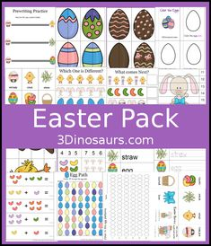 Free Easter Pack: over 30 pages of activities with a small Tot Pack by 3 Dinosaurs.com