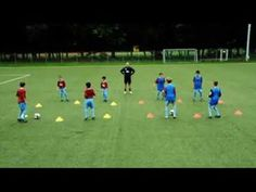 entrainement control / passe - YouTube U7 Soccer Drills, Soccer Passing Drills, Football Coaching Drills, Soccer Training Drills, Soccer Drills For Kids, Soccer Workouts, Soccer Skills, Kids Soccer, Soccer Drills For Beginners