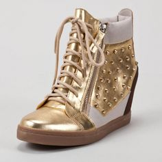 c39d6c254a1 Funky gold tennies Gold Sneakers