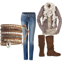 Another look to love featuring 81 Hours cardigans, malo jeans and Wet Seal boots. Browse and shop related looks.