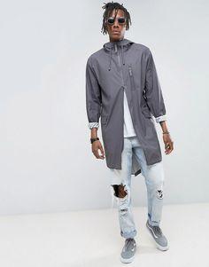 Rains Waterproof Parka Jacket in Smoke - Gray