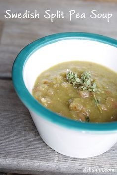 Swedish Split Pea Soup #soup  http://delishhh.com/2012/10/28/swedish-split-pea-soup/
