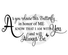 Butterfly Poems Inspiration | Elegant Scripted Memorial Poems : Butterfly Release Funeral Poem