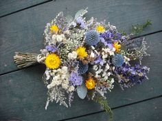 Dried flower and herb swag or bundle for a by NHWoodscreations