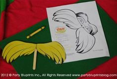 lorax 'tache. I love the idea of adding elements from their favorite movies, t.v. shows, etc.