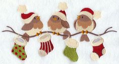 Very Merry Christmas Birds (this would make a great Wall hanging for the kitchen)