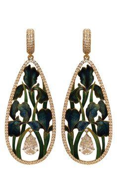 Earrings 'Irises' by Ilgiz Fazulzyanov