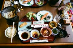 Japanese breakfast food, this is what I will be eating when i go to Japan come fall.