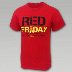 Red Shirt Friday Support Troops T- Shirt