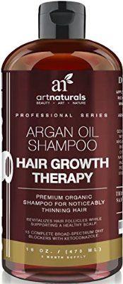 Art Naturals Organic Argan Oil Hair Loss Shampoo for Hair Regrowth 16 Oz - Sulfate Free - Best Treatment for Hair Loss, Thinning & - Growth Product For Men & Women - Infused with Biotin - 2016 Edition