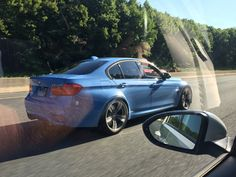 BMW M3 on the road