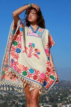 1970s Vintage Mexican Poncho – Honeywood