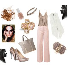 Blush tone casual, created by barbie6689 on Polyvore