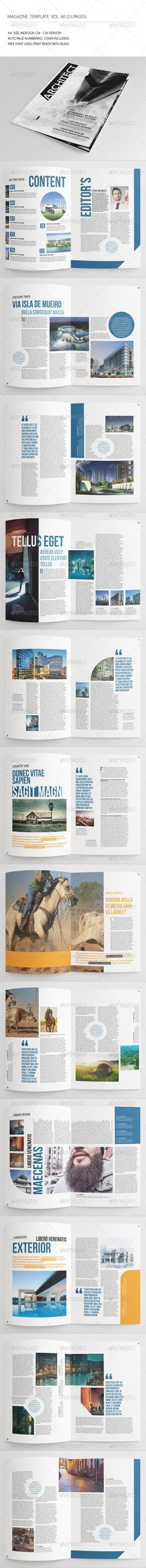 25 Pages Architecture Magazine Vol60 - #Magazines #Print #Templates Download here: https://graphicriver.net/item/25-pages-architecture-magazine-vol60/7845872?ref=alena994