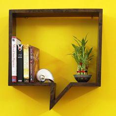Word bubble bookshelf